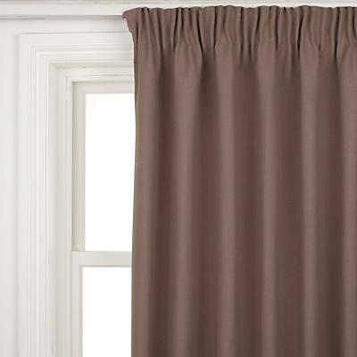 Buy John Lewis Cotton Rib Pencil Pleat Curtains, Mocha online at JohnLewis.com - John Lewis