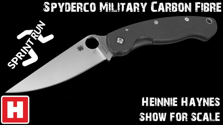 Spyderco Military Carbon Fibre Sprint Run - Show for Scale Overview