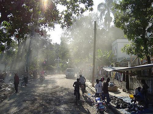 Street in Leogane Haiti.  November 2011.