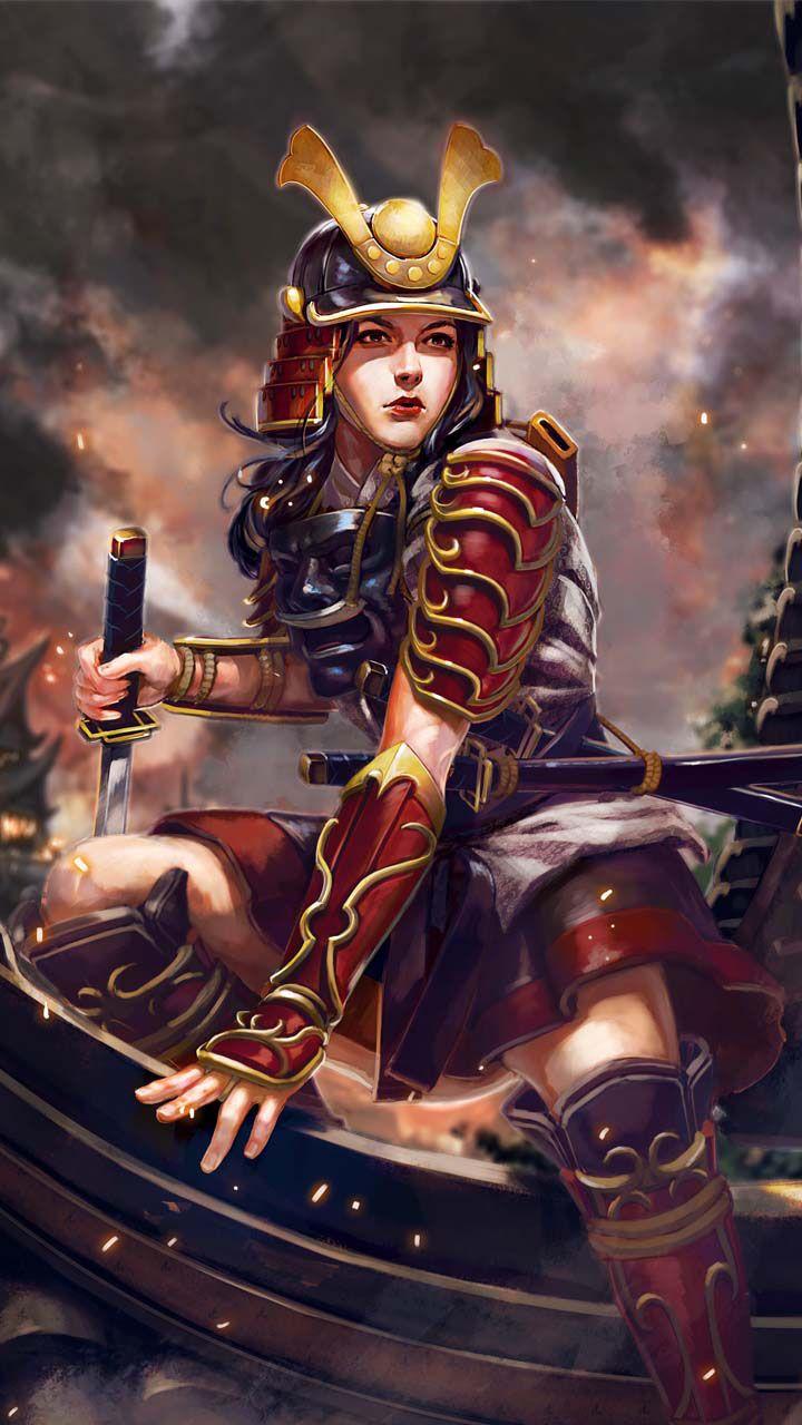 Japannes Female Warriors Female Samurai Female Samurai Tattoo Warrior Woman