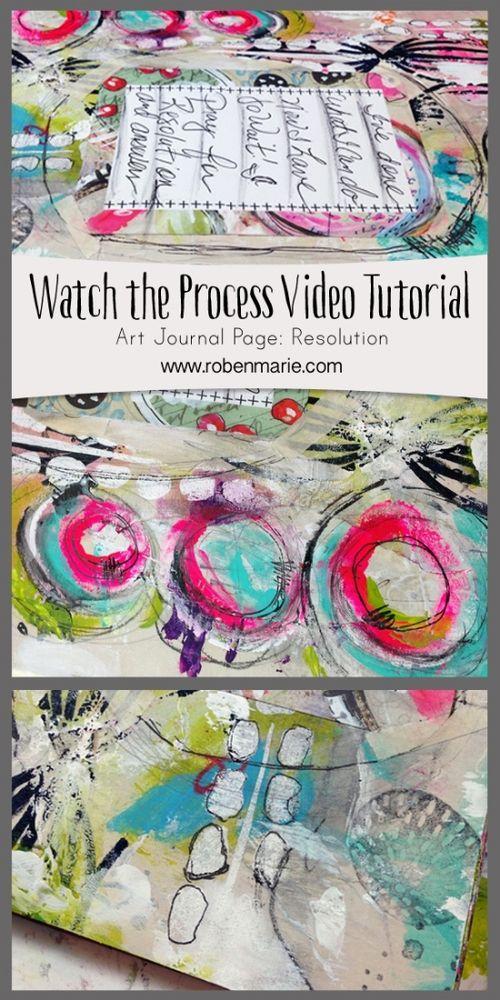 Watch the Process Art Journaling Video — Roben-Marie Smith