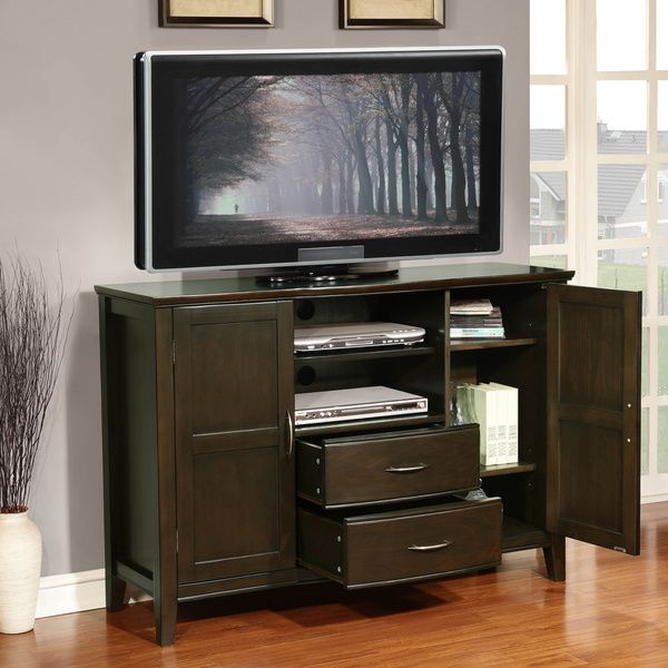 Langley Collection Hand Rubbed Exeter Brown Tall TV Stand   Overstock   Shopping   Great Deals. 17 Best ideas about Tall Tv Stands on Pinterest   Tall tv cabinet