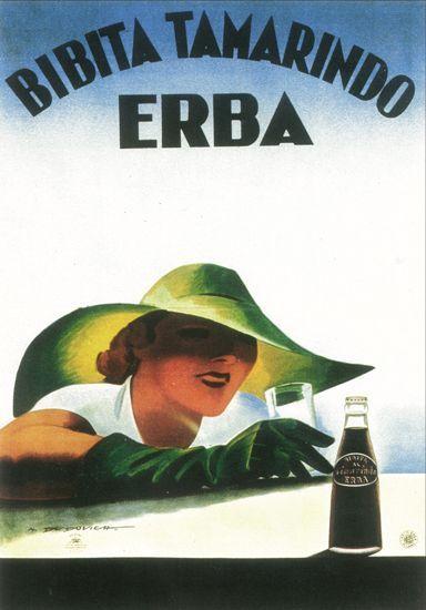 Pubblicità Tamarindo Erba di Marcello Dudovich 1931