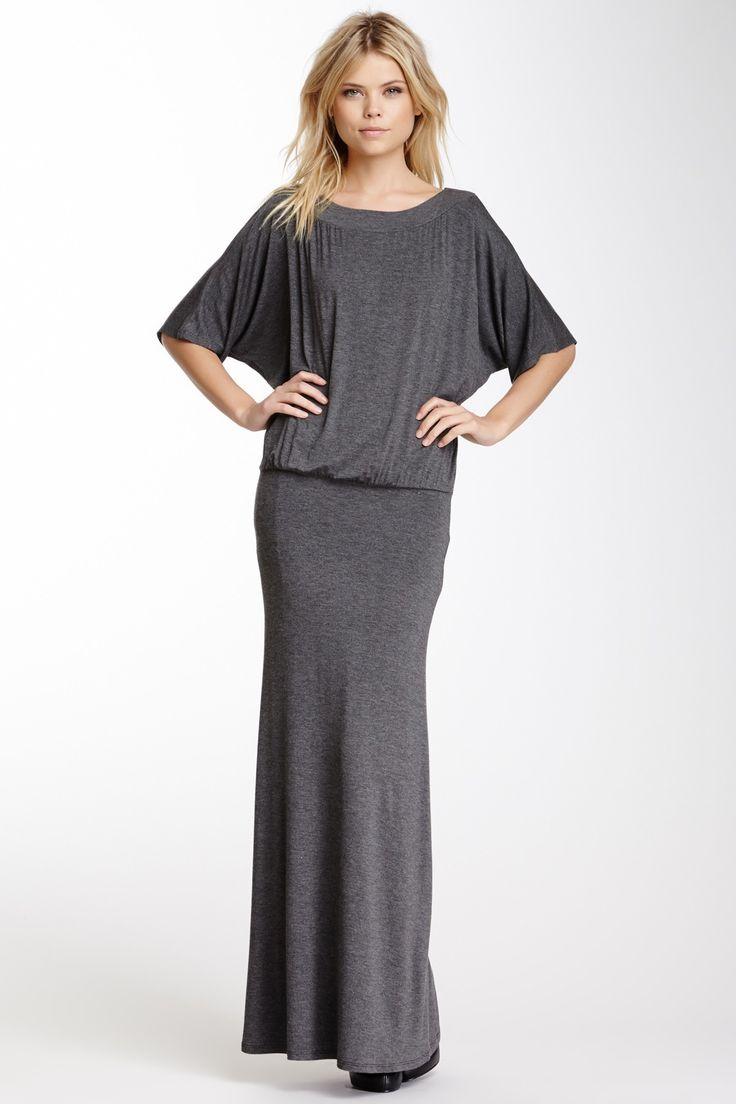 Elbow dolman sleeve maxi dress girlies pinterest for Dolman sleeve wedding dress