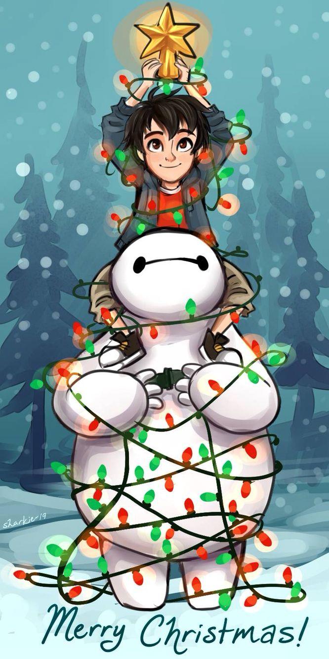 Baymax and Hiro Christmas