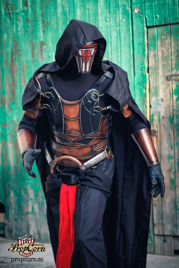 DARTH REVAN MASK Star Wars Mask Old Republic Role Playing Larp Costume & Cosplay 501st legion  The mask is made with an strong resin and its very comfortable to wear, durable and light. You can see through the visor perfectly and it doesnt fog like others models.  You can choose between this options:  RAW: Straight from the mold, without straps. Available in only 2-3 working days.  RAW + STRAP: Straight from the mold, with adjustable straps. Available in only 2-3 working days.  PRIMED: The…