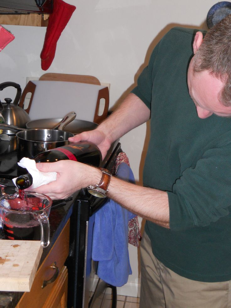 Hubby doesn't spend a lot of time in the kitchen, but a couple of times a year, he'll work drink recipe. Mulled wine or Hot buttered rum perhaps!