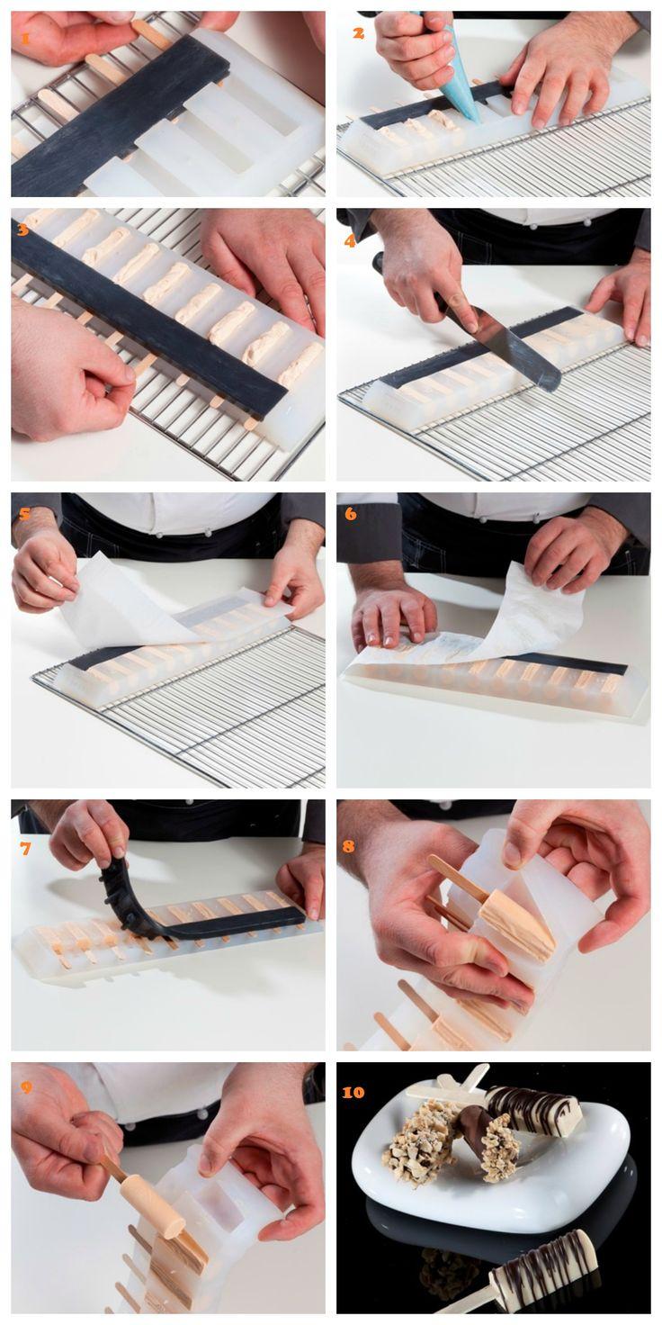 Per realizzare i finger food con la Linea DecoStick!!! To realize the finger food with DecoStick line, here are the steps !!! www.decosil.it/... #decosil #cioccolato  #fingerfood #chocolate #stepbystep