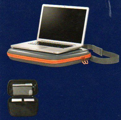 Storage Lap-top Desk By Room Essentials Dimensions 19in X 13in X 2 3/4in. - Internal mesh accessory pocket x2. - Cushion laptop pocket. - Adjustable shoulder strap. - Fits up to 17' laptop.  #Room_Essentials #PC_Accessory