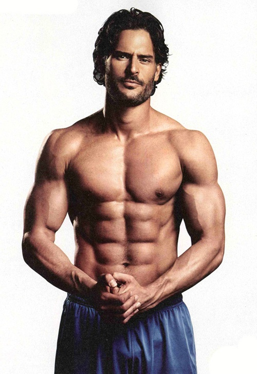 "Joe Manganiello- eye candy most known for being a wolf in ""True Blood"" and of course a sexy stripper in ""Magic Mike"""