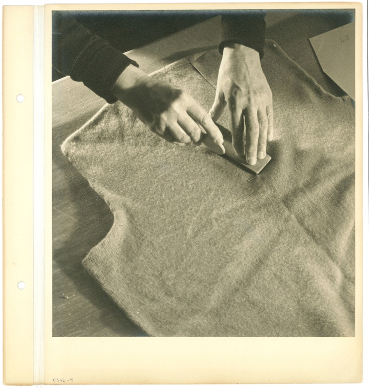 Making pattern alterations - Original Photography by Walter Nurnberg