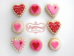 Valentines: Cookies Ideas, Valentine'S Day, Minis Cookies, Valentines Decor Cookies, Cookies Decor, Heart Valentines Them Cookies, Valentines Romantic Valentines, Valentinesrom Valentines, Valentines Cookies Cak