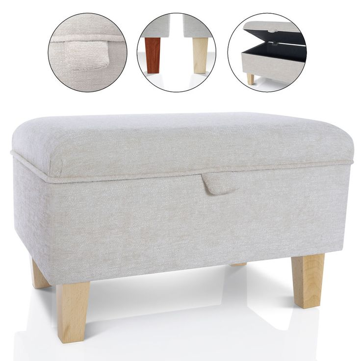 Details about STORAGE FOOTSTOOL OTTOMAN BLANKET BOX - SEAT POUFFE TOY BOX  LARGE SMALL - 25+ Best Ideas About Storage Footstool On Pinterest Small