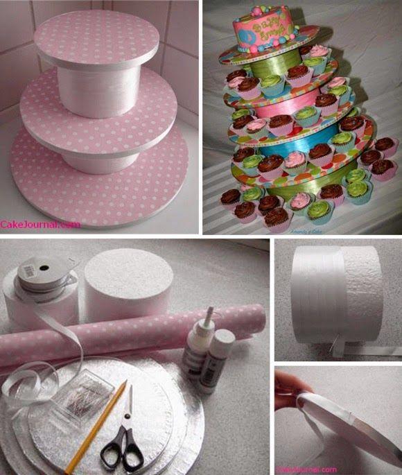 TUDO PRA SUA FESTA: Como fazer uma estante para cupcake