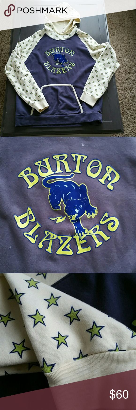 RARE Burton Hoodie I guarantee you'll never be in line at the resort and see anyone wearing one of these. I have had it for over ten years and have never seen another one.  It's very comfortable and basically still brand new. Burton Shirts Sweatshirts & Hoodies