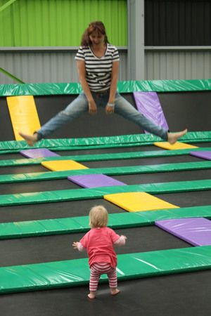 airodrome, Altona Nth... No words can describe how it feels when you first set eyes on endless wall to wall trampolines. Ok, Mamma will try ... it's a teeny bit awesome and she couldn't get the smile off her face at this place! Try somersaulting into giant foam pits, running up trampoline walls then finish with some super duper bouncing. An excellent alternative to the usual play centre action. Airodrome is for 3 yo + but they have weekly 'mums & bubs' sessions.