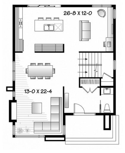 planos de casas de dos pisos sin garaje