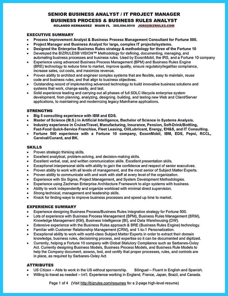 Senior Business Analyst Resume Awesome Best Secrets About Creating Effective Business Systems