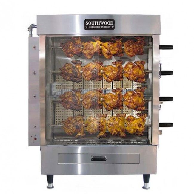 Industrial Kitchen Ovens For Sale: Southwood RG4 20 Chicken Commercial Rotisserie Oven
