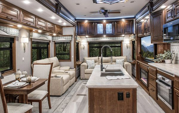 New Drv Luxury Suites Mobile Suites 32 Rs3 Fifth Wheel For Sale Review Rate Compare Floorplans Rvingpla Luxury Suite 5th Wheels For Sale Luxury Fifth Wheel