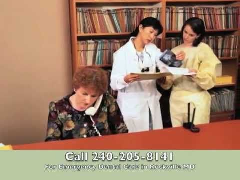 A video on how to obtain emergency dental care in Rockville, Maryland.