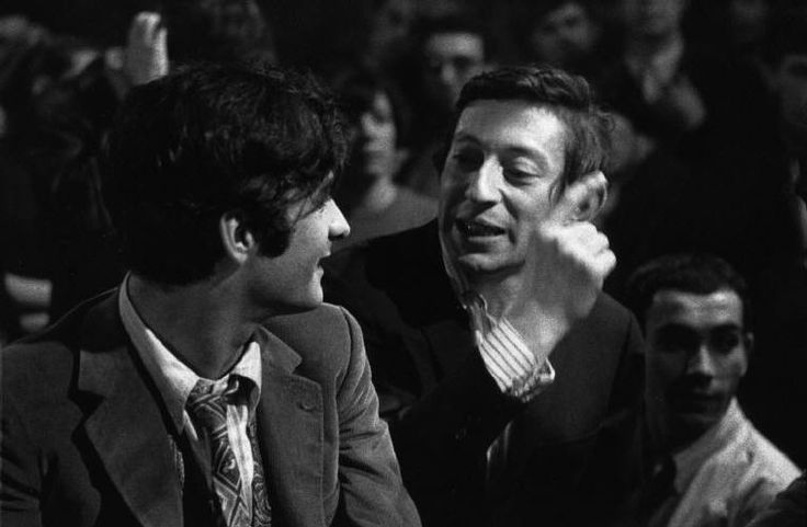 "Bruno Barbey    ""Bus Palladium"" night club. Serge GAINSBOURG"