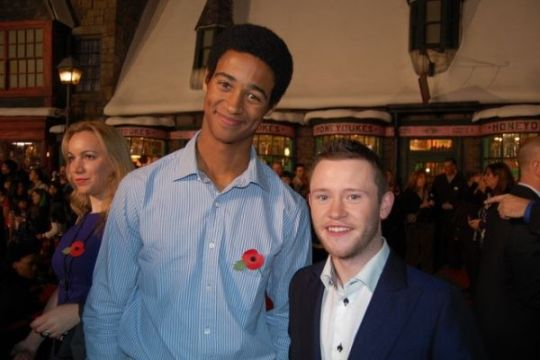 "Pinning for drawing reference for characters with disparate heights.  Actors Alfred Enoch (6' 3"") and Devon Murray (5'3"")"
