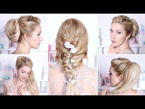 Tuto coiffure pour Noël, les fêtes de fin d'année, soirée/mariage ✿ Chignon cheveux mi longs, facile - YouTube