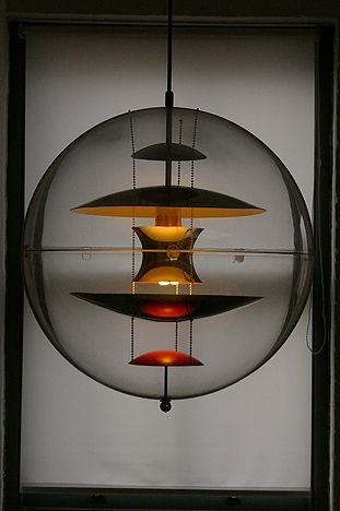 Globe light designed by Verner Panton for Louis Poulsen