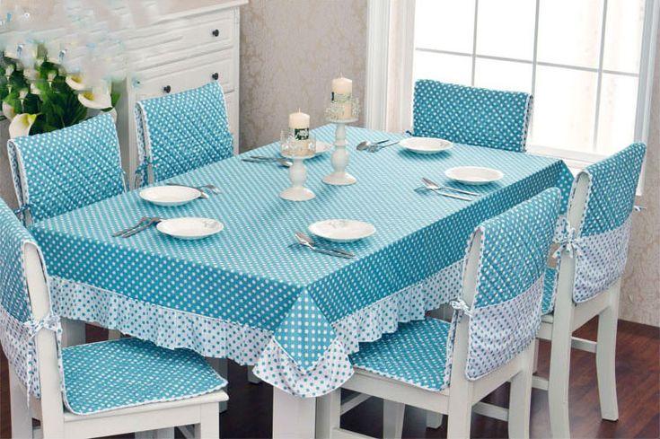 De haute qualité cuisine Table à manger tissu et la couverture de chaise 100 % dentelle de coton nappe et deux couvrent l'utilisation au fauteuil et le coussin(China (Mainland))