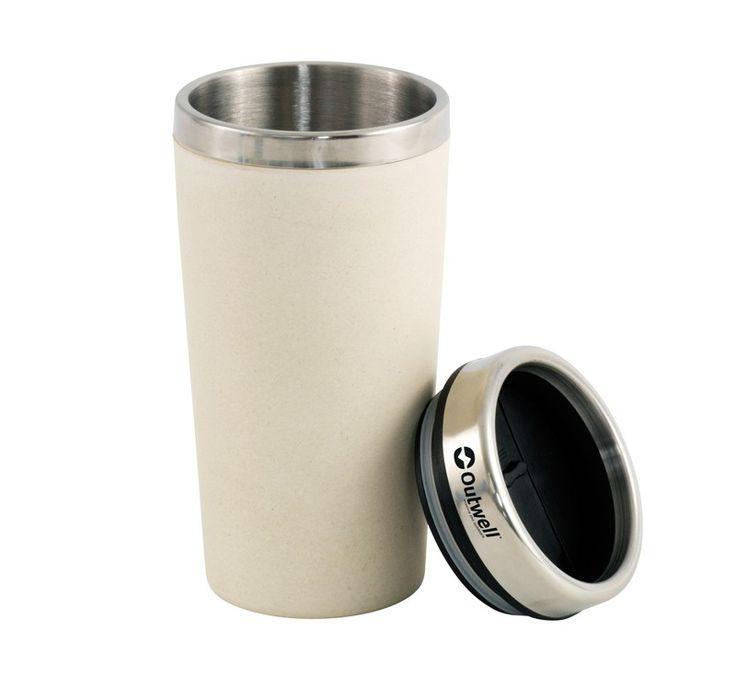 Θερμός Ανοξείδωτο Bamboo Outwell 400 ml Άσπρο | www.lightgear.gr