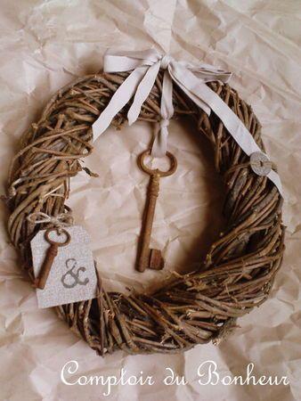 suspension vieille clé/couronne
