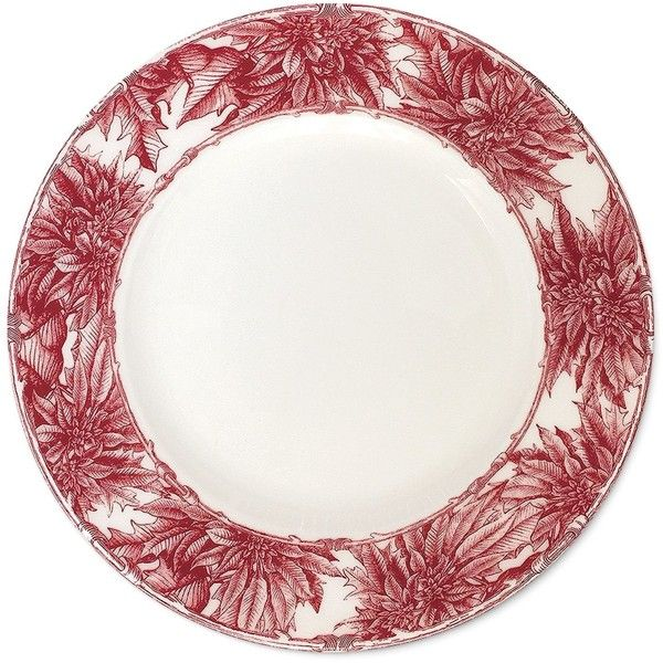 "Caskata Poinsettia Salad Plate 8.5"" ($35) ❤ liked on Polyvore featuring home, kitchen & dining, dinnerware, holiday plates, contemporary dinnerware, caskata dinnerware, caskata plates and holiday dinnerware"