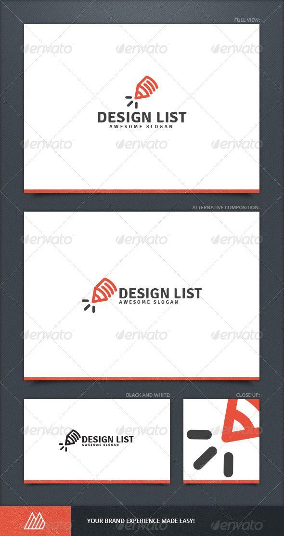Design List Logo Template Travel Photo Pinterest Logo