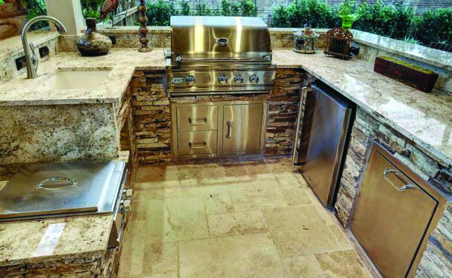 White Colors Of Stone Countertops Outdoor Kitchen Countertops Outdoor Kitchen Outdoor Kitchen Appliances
