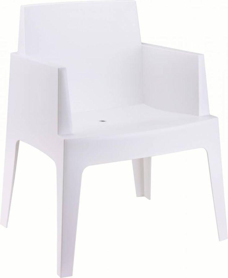 Zuiver Stoel box wit kunststof 80x65x58cm voor buiten en binnen