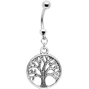 tree: Belly Rings, Life Belly, Body Candy, Navel Rings, Trees Of Life, Body Jewelry, Buttons Rings, Tree Of Life, Belly Buttons