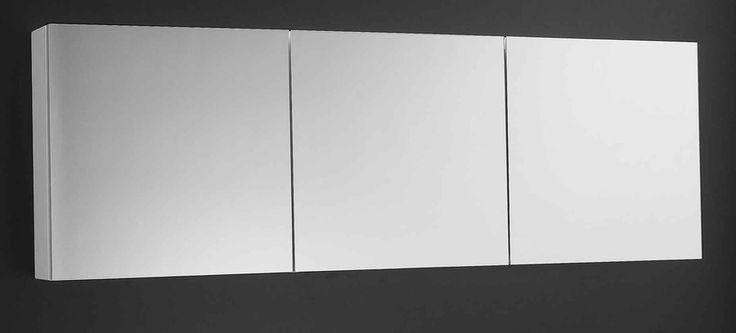 Overlay Sleek 3 Door Shave Cabinet - Rifco