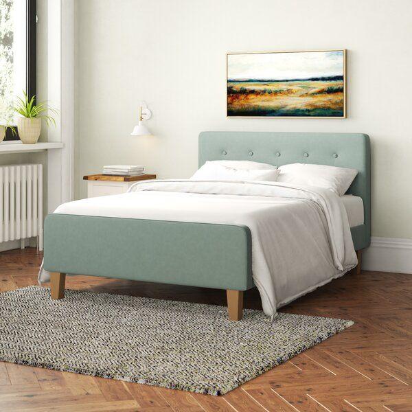 Neal Upholstered Bed Frame In 2020 Upholstered Bed Frame