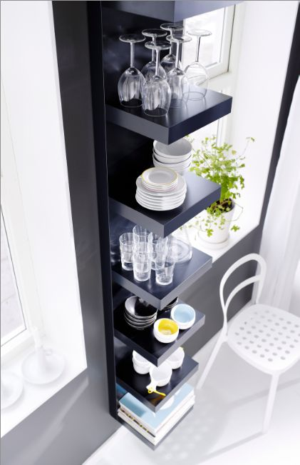LACK shelving is like a magic trick. Invisible fixings hold it to the wall, giving a streamlined style, and a home for books, photographs, even a mini tv. Prepare to be amazed.