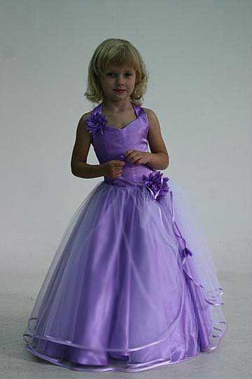 Lavender Flower Girl Dresses | Lilac flower girl dress - Model Angel