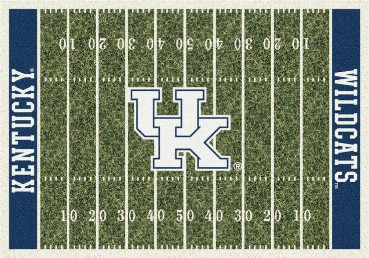Kentucky Wildcats UK Football Field Rug