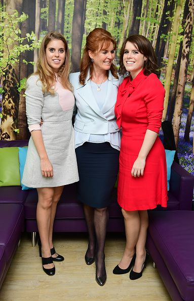 royalwatcher:  Sarah, Duchess of York, with her daughters Princess Beatrice and Princess Eugenie, December 9, 2016