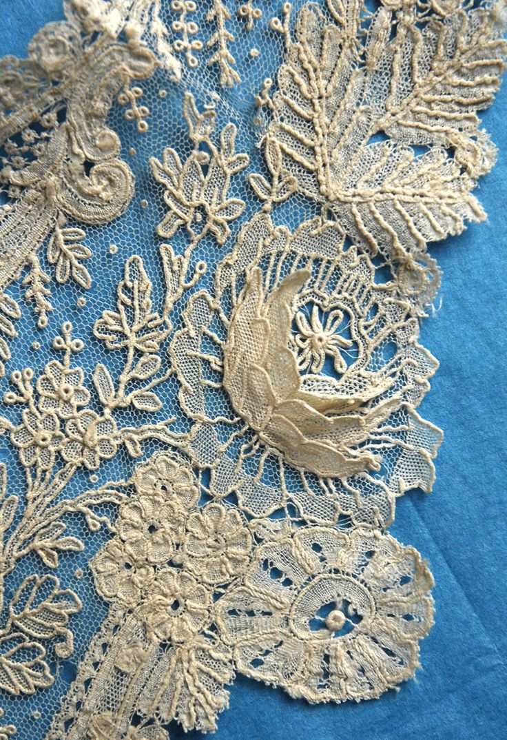 Antique Vintage Duchesse and Point de Gaze Lace Collar with Petalled Roses | eBay