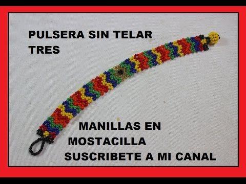 PULSERA SIN TELAR TRES - YouTube