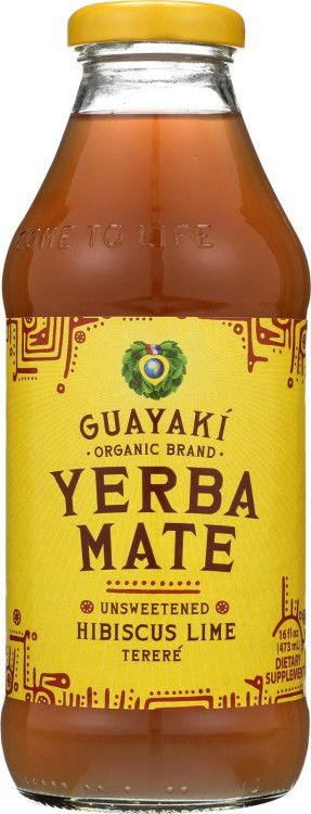Guayaki Yerba Mate - Unsweetened Hibiscus Lime - Case Of 12 - 16...