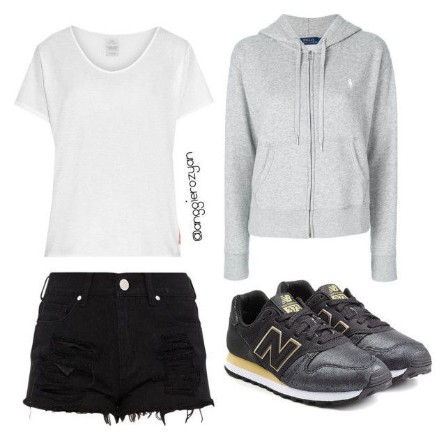 """Sporty fashion"" by anggierozyan on Polyvore featuring Polo Ralph Lauren, Visvim and New Balance"