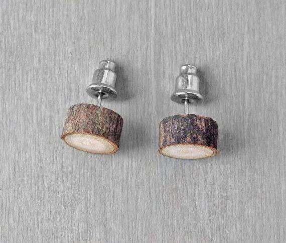 Orecchini fetta di legno popolare di una tribù urbana, ora con proiettile superconfortevoli sostiene tale diapositiva sulla facilmente e