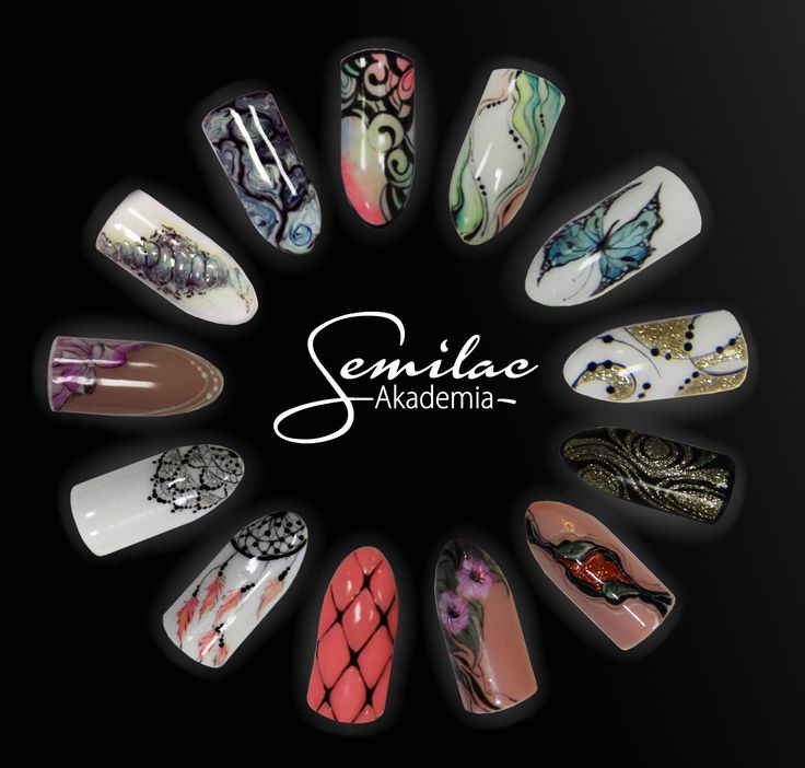#artnails #nails #semilac #atumn #trends