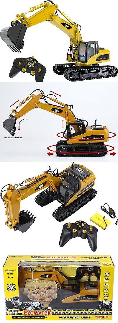 Industrial and Service Vehicles 182184: Remote Control Excavator Rc Construction Tractor Vehicle Truck Toy Digger Car -> BUY IT NOW ONLY: $101.13 on eBay!